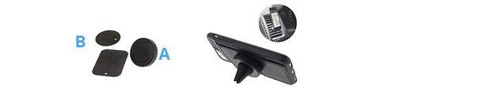Shop4 - Magnetische Autohouder Ventilatierooster Zwart
